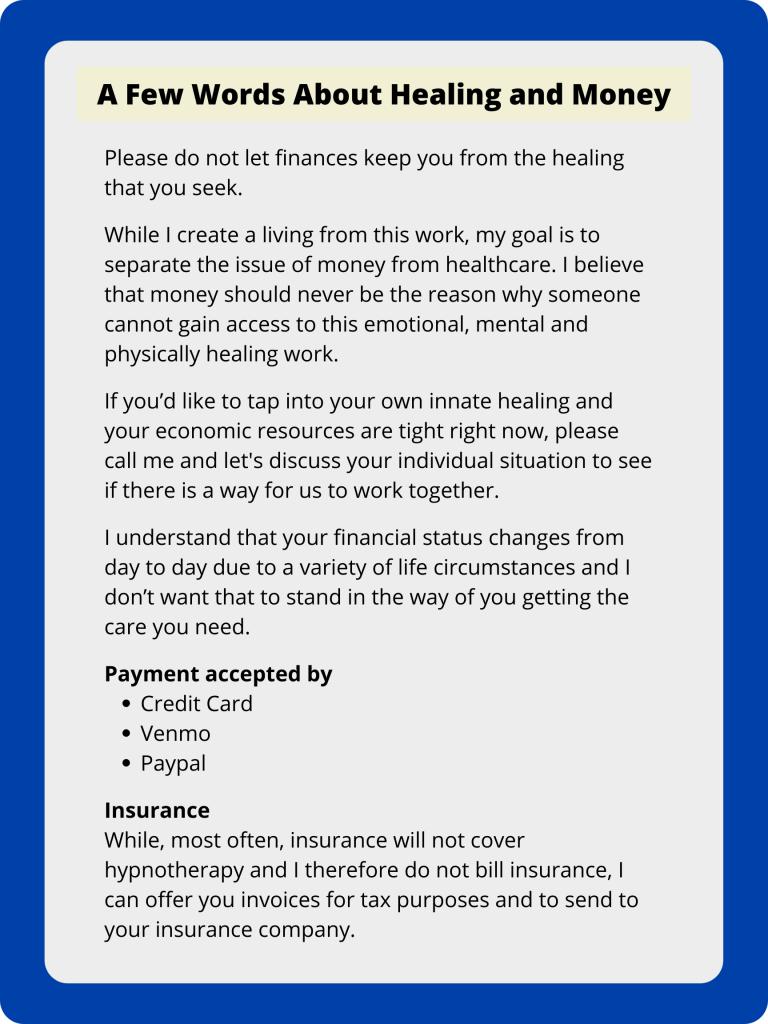 Healing and Money - Phoenix Hypnosis
